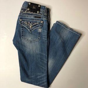 MISS ME fading blue light denim boot cut 27 jeans